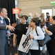 """City Manager Wayne Pyle speaks with residents at an open house on March 21 at the Utah Cultural Celebration Center. Pyle said the city would fight a resource center with """"whatever means they have at their disposal."""" (Travis Barton/City Journals)"""