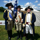 Col Alexander Hamilton played by Gene Pisasale right along with Gen George Washington Carl Closs and Gen Lafayette at the 2014 Battle of Brandywine reenactment