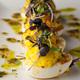 Deviled Eggs with truffle-chive vinaigrette.
