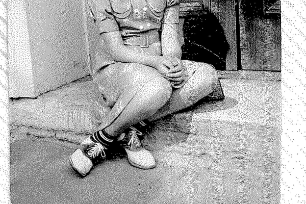 A photo of 10-year-old Alma Hendrickson, sitting on the steps of the church, circa 1937. This photo was among the many items collected and exhibited by Alma Hendrickson Rigler in her scrapbooks detailing the history of Landenberg Church. (Photo courtesy of Alma Rigler)