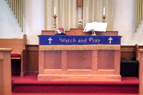 The altar at the church. (Photo by Natalie Smith)