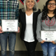 Mt. Jordan's Hunter Jarvis and Jordan High's Jennifer Mamayo received the Young Citizenship Award from the Sandy Exchange Club. (Sandy Exchange Club)