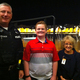 Edward and Ryan Poisker with Heidi Stark, principal of Ingomar Middle School