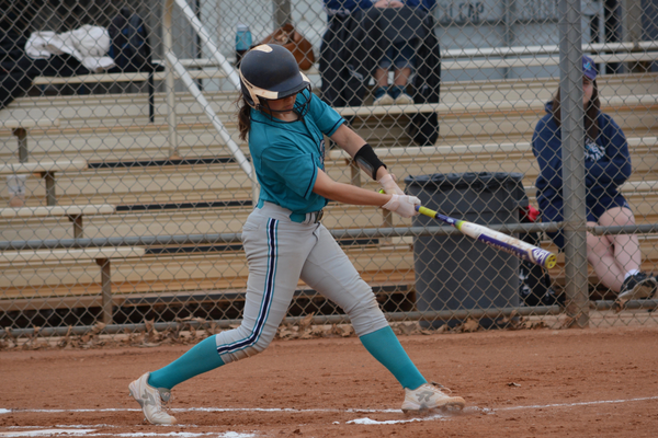 Senior Bela Sedillo is leading 3A in doubles for the third year in a row. (DeAnn Madsen/Juan Diego softball)