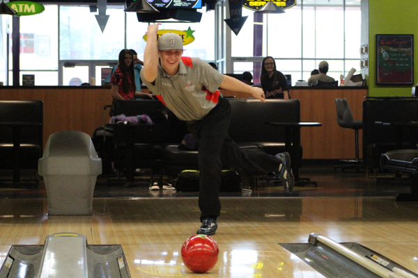 Craig Briggs unleashes a ball down the lane at Fat Cats in April. Briggs will be heading to nationals in July. (Travis Barton/City Journals)