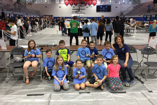 Members of the Campbell Elemtary School Robotics Team. (Courtesy photo)