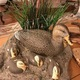A family of Mallards Mallards hand carved by Dennis Barnett. (Alisha Soeken)