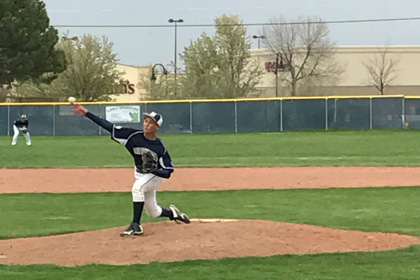 Sophomore Gavin Carlson has pitched in two games for the Wolverines, part of a mix of veterans and underclassmen the Wolverines have on this year's team. (Greg James/City Journals)