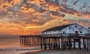 Kitty Hawk Pier at sunset is a glorious setting It was reopened in 2008 following a devastating hurricane Photo by Glenn V Ostle