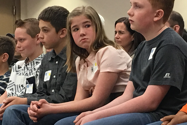 Fifth-grader Morgan Edman was one of the girls who qualified to compete at the Utah State Geography Bee. (Tori La Rue/City Journals)