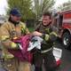 West Jordan paramedics put out a house fire and revived the homeowner's cat on March 27 after learning animal lifesaving techniques earlier that day. (West Jordan City)