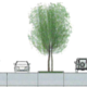This image shows the proposed paving and planted medians that consultants suggested West Jordan implement along Redwood Road. (MGB+A and Fehr & Peers)