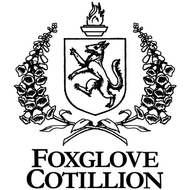 Foxglove cotillion logo stacked  black on white 700px wide