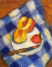 Medium peaches 20strawberry 20and 20knife 20op 2011x14 20650