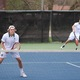 No. 1 doubles team plays against Skyline in May. The Titans finished second in Region 6. (Travis Barton/City Journals)