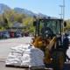 Volunteers filled more than 1,000 sandbags on a Saturday afternoon. (Dan Metcalf Jr./Cottonwood Heights City)