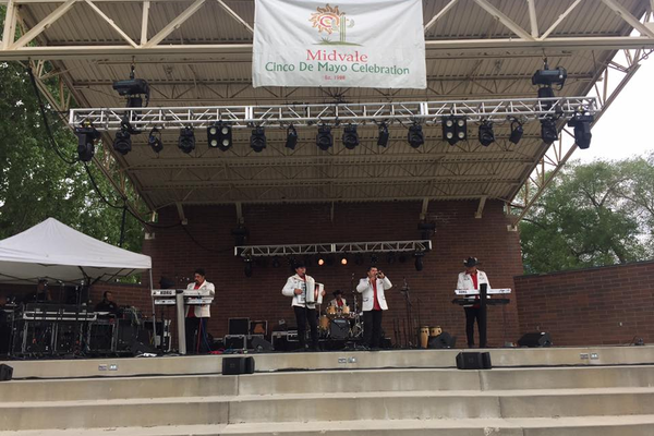 Live music performed throughout the day at the amphitheater for the Midvale Cinco de Mayo celebration. (Midvale Cinco de Mayo Facebook)