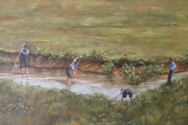 'Amish Rafting' by Reenie Chase.