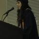 Student speaker Dina Spyropoulos.