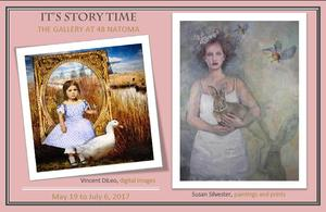 Medium its  story time postcard front