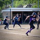 Sabrina throwing to first to get Taylor C. out after a bunt