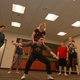 Cedar Winters and Ben Winters pull off some fun stunts and jumps at the dance with the rest of the Jets. (Keyra Kristoffersen/City Journals)