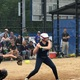 Dracut's Ryley White looks at a pitch in the state final against Grafton.