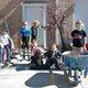 Members of Pack 3935 — Cash Lewis, Jace Birmingham, Caden Kilcrease, Sean Gandry, Declan Kilcrease and Ryker Legerski — show off their gardening skills at the Sandy Museum for Sandy Pride Day. (Keyra Kristoffersen/City Journals)