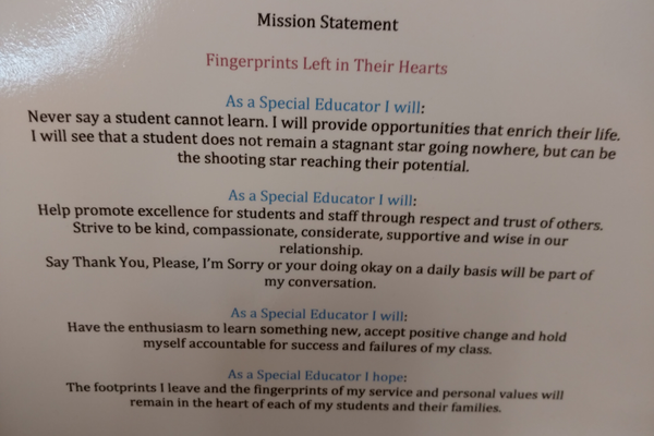 Hegland's personal mission statement is the reason she is an exemplary teacher and colleague. (Jet Burnham/City Journals)