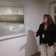 Audrey Lewis, who co-curated the exhibition, speaks to the press about 'Goodbye' during a preview on June 22. (Photo by John Chambless)