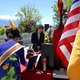 Thao Huynh and Doan Quynh Phan light incense for fallen soldiers at the Vietnamese Community of Utah's Memorial Day celebration. (Keyra Kristoffersen/City Journals)