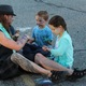 Face painting was available during the Night on Commonwealth. (Travis Barton/City Journals)