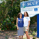 Yali Zawady (left) stands with SCCF's Kelly Sloan. The two use beach meditation to spark activism in the survival of Southwest Florida's sea turtles. Turtle nesting runs April through October. Sea turtles were federally protected in the 1970s.