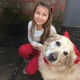 Buttercup with Lilia (human) » My dog Buttercup is so comforting and nice, and she's my best friend! We bought her from a pet market in Tianjin, China, and flew her with us in the airplane when we moved back to Cameron Park.—Lilia Brents