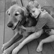 Mateo with Nate (human) » Mateo will be 10 years old in September. In his spare time, he likes swimming in his one-acre pond, chasing his three chickens, playing with his three favorite kids and going to work with Dad at Everhart Cellars where he's the friendly greeter!—Jennifer Mantei
