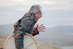 Uncle a shaman from Greenland is a passionate and outspoken messenger on climate change or what he calls the