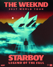 Medium starboy legend of the fall tour poster
