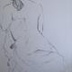 A studio nude sketch by Leah Maholmes.