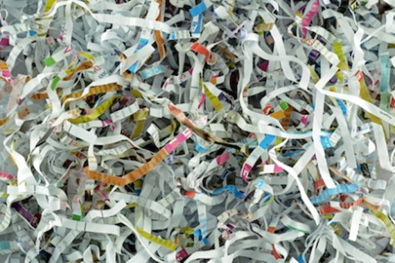 Shredded paper documents 440x293