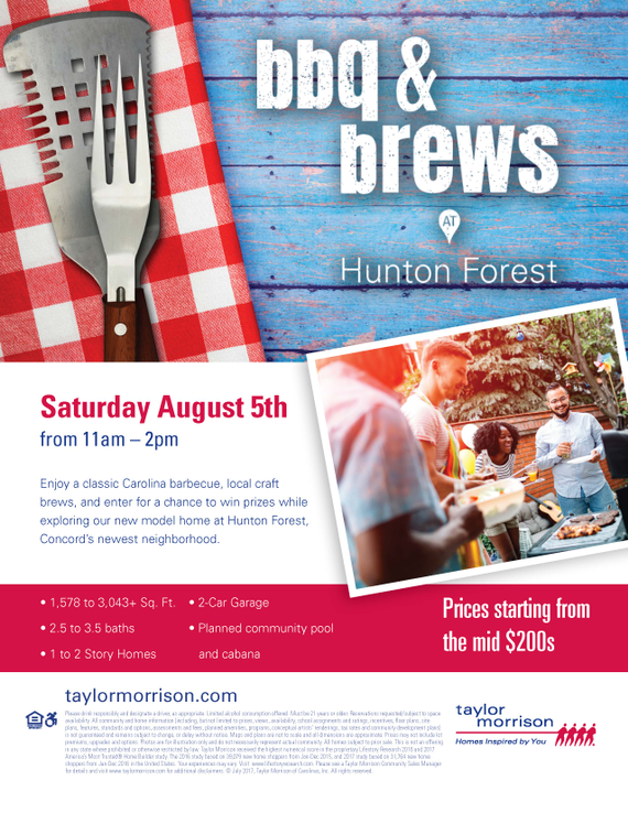Tmcharlotte bbq and brews hunton forest grand opening event flyer f