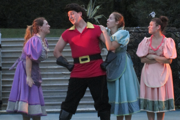 Gaston (John Dingle) and the Silly Girls (Rebecca Beeby, Krysta Stefanosky and Patricia Storch).