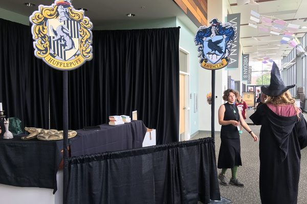The Viridian Events Center was transformed into Hogwarts for a special Harry Potter themed camp. (Kelly Cannon/City Journals)