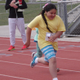 South Jordan Elementary fifth-grader Savannah Martinez sprints to win the 50-yard dash during Jordan School District's Sports Day. (Julie Slama/City Journals)