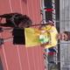 Monte Vista student Ayden Hill's stands on top of the podium at Jordan School District's Sports Day. (Julie Slama/City Journals)
