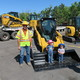 """Agustin Zavala with W.W. Clyde Construction provided heavy equipment during the """"Build It"""" party. (Eleanor Nave)"""