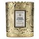 Voluspa Embossed Glass Scalloped Edge Candle, $27.99 at Rosae Flower Boutique, 5550 Douglas Boulevard, Suite 190, Granite Bay. 916-899-6200, myrosae.com
