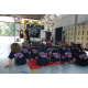 Junior firefighters get the run-down on the inner workings of an ambulance. (Keyra Kristoffersen/City Journals)