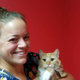 Stone Ridge vet tech Shannon with rescued kitty Jupiter. Stone Ridge staff donate service and medical care to local animal rescues. (Marnie Cannon)