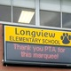 The first message on the long-awaited marquee sign showed appreciation for those who lead the fundraising effort. (Jeannette Bowen/Longview Elementary)