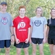Coach Jon Bowen, Rylan Shafer, Addy Moore and coach Anna Lewis (L-R) pause during a workout.  (Anna Lewis)